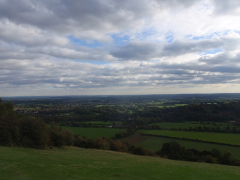 Box Hill, looking south