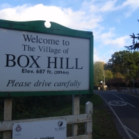 Box Hill - 209.4m, apparently