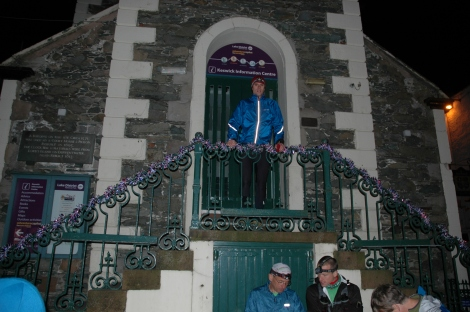 On the steps of the Moot Hall