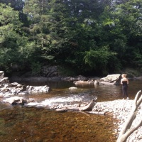 Wild swimming in the River Findhorn