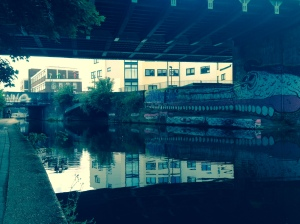 Regent's Canal and summit of Tower Hamlets