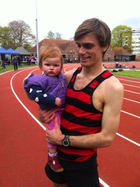 Jonny and Arielle at the Tooting Bec track